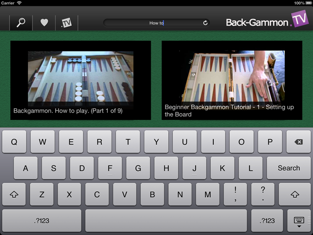 Back-Gammon.TV App (BGTV App) iPad Screenshot 3